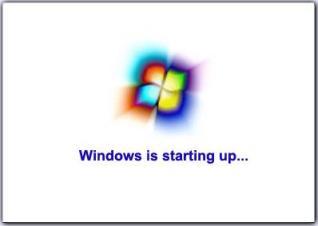 windows is starting up